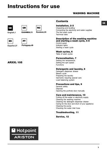 ariston owner s manual operating manual service manual rh northlondonappliancerepairs co uk