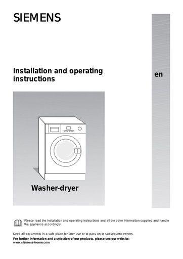 siemens owner s manual operating manual service manual