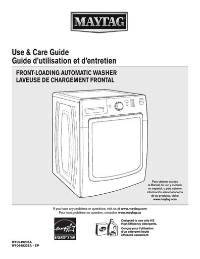 maytag mhw5100dc maxima washing machine user instructions rh northlondonappliancerepairs co uk maytag centennial washer use and care guide maytag centennial washer use and care guide