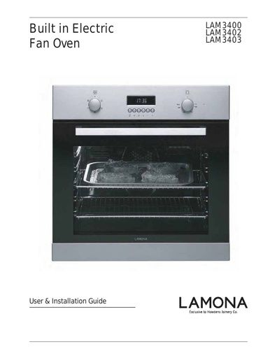 Lamona Single Fan Oven Lam3400 Manuals Lamona Manuals