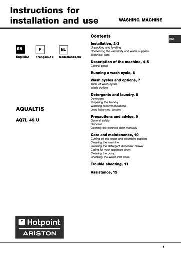 hotpoint owner s manual operating manual service manual rh northlondonappliancerepairs co uk hotpoint ariston dishwasher user manual hotpoint ariston aqualtis user manual