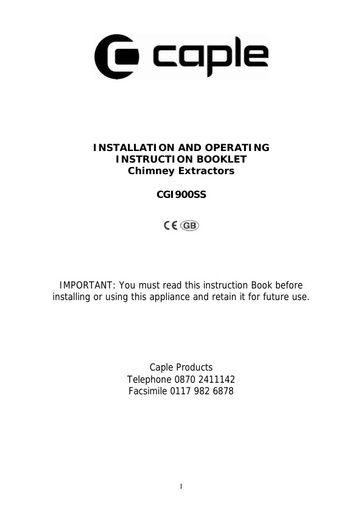 caple cgi900ss um instruction manual caple manuals rh northlondonappliancerepairs co uk Dishwasher Energy Guide Label Household Appliances