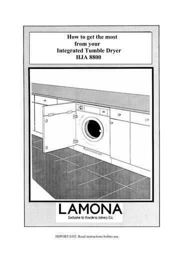 Lamona Integrated Tumble Dryer HJA8800 Lamona Manuals