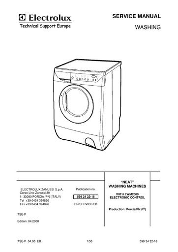 Electrolux AW2108F SERVICE MANUAL