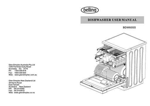 Belling - Owner's Manual - Operating Manual - Service Manual