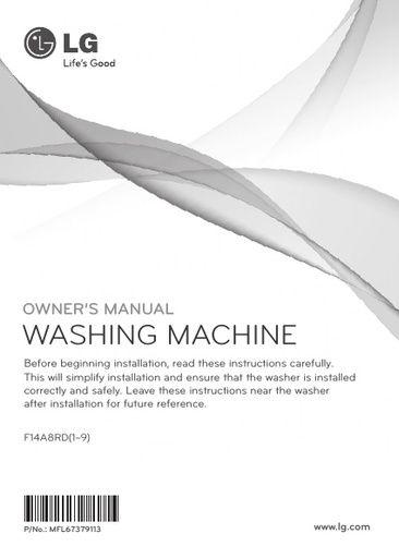 User Manual lg washer Dryer combo Error code Oe error code