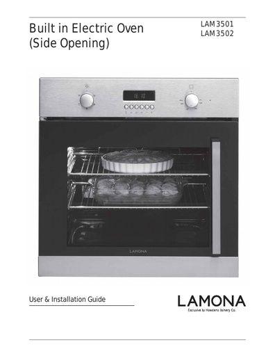 lamona oven instructions pdf