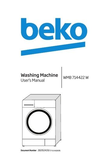 Beko - Owner's Manual - Operating Manual - Service Manual
