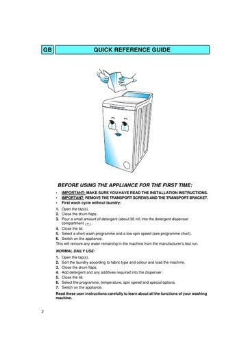 Bauknecht WATS 5340 Washing Machine - Bauknecht Manuals