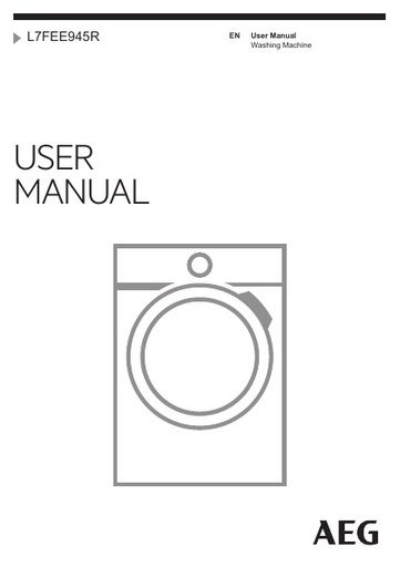 Miele Washing Machine Repairs >> AEG L7FEE945R Washing Machine - AEG Manuals